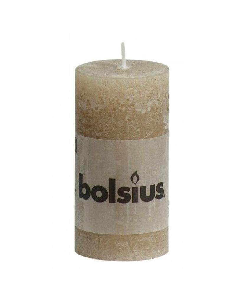 Bolsius Bolsius stompkaars rustiek 100x50mm beige