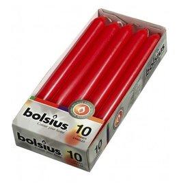Bolsius Bolsius dinerkaars 230x20mm rood 10st