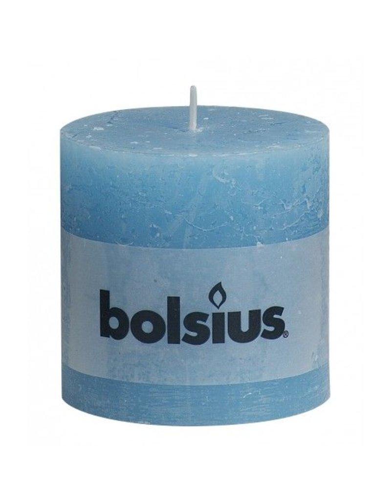 Bolsius Bolsius stompkaars rustiek 100x100mm aqua