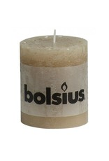 Bolsius Bolsius stompkaars rustiek 80x70mm beige