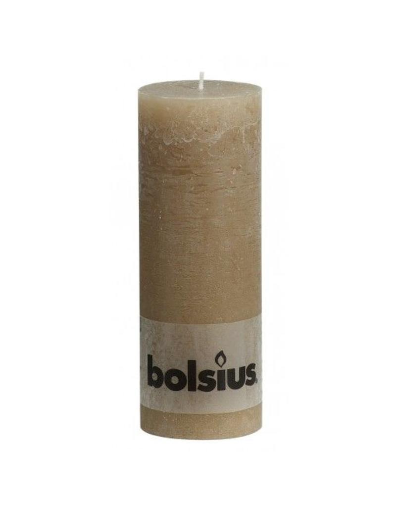Bolsius Bolsius stompkaars rustiek 190x70mm beige
