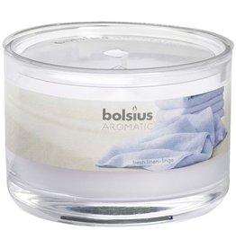 Bolsius Bolsius geurkaars in glas 63mm fresh linen