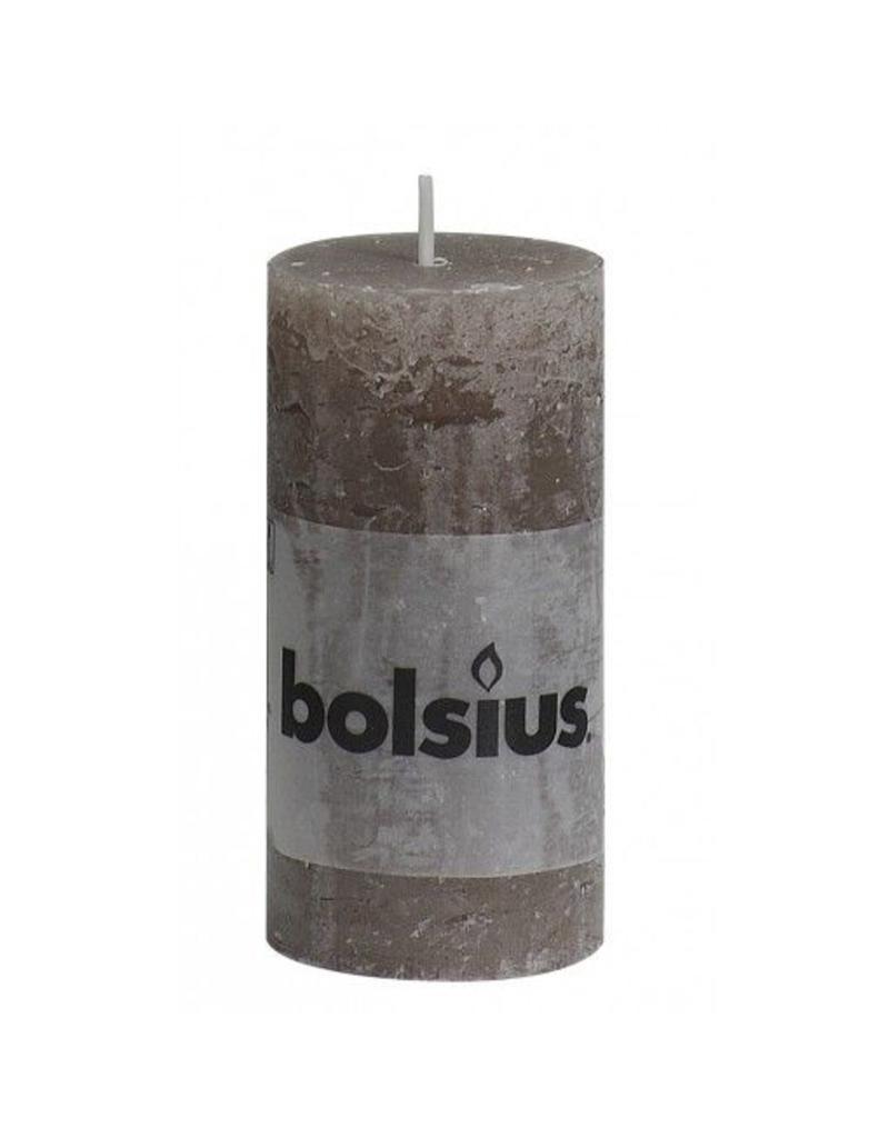 Bolsius Bolsius stompkaars rustiek 100x50mm taupe