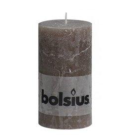 Bolsius Bolsius stompkaars rustiek 130x70mm taupe