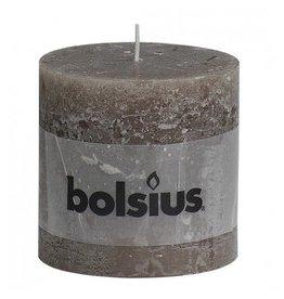 Bolsius Bolsius stompkaars rustiek 100x100mm taupe