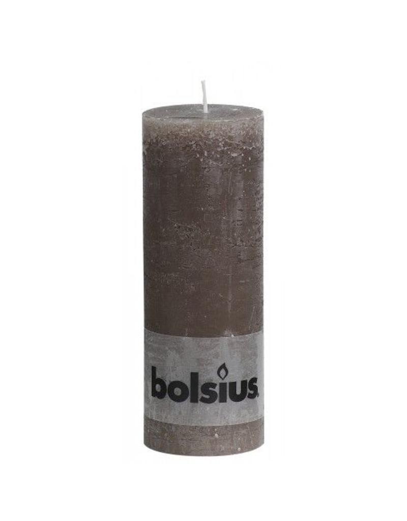 Bolsius Bolsius stompkaars rustiek 190x70mm taupe