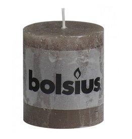 Bolsius Bolsius stompkaars rustiek 80x70mm taupe
