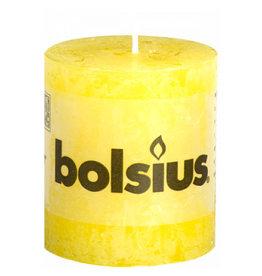 Bolsius Bolsius stompkaars rustiek 80x68mm sunshine yellow