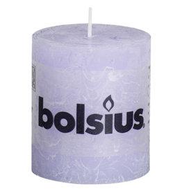 Bolsius Bolsius stompkaars rustiek 80x68mm pastel purple
