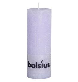 Bolsius Bolsius stompkaars rustiek 190x68mm pastel purple