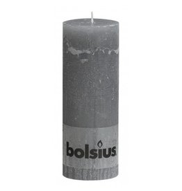 Bolsius Bolsius stompkaars rustiek 190x70mm lichtgrijs