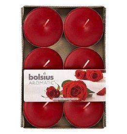 Bolsius Bolsius maxi geurlichten velvet rose 6st