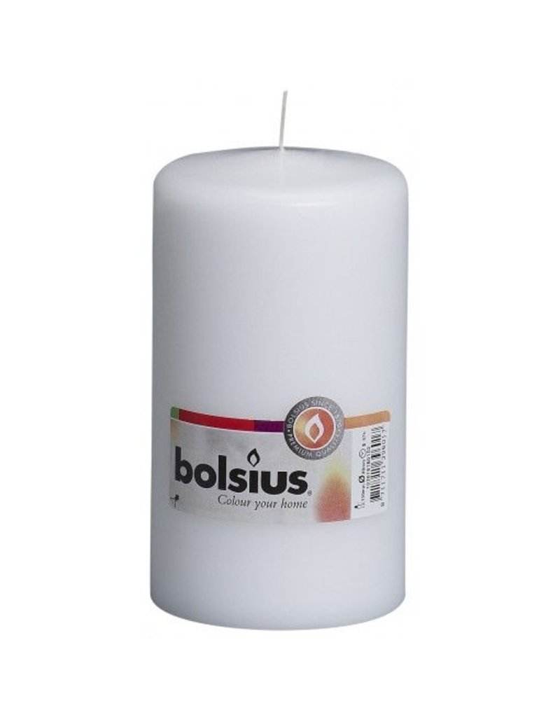 Bolsius Bolsius stompkaars 150x80mm wit