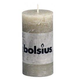 Bolsius Bolsius stompkaars rustiek 10x5cm kiezelgrijs