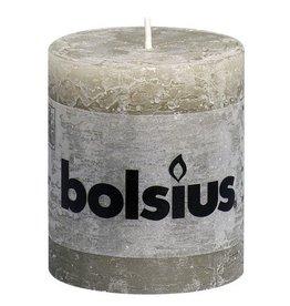 Bolsius Bolsius stompkaars rustiek 80x68mm kiezelgrijs