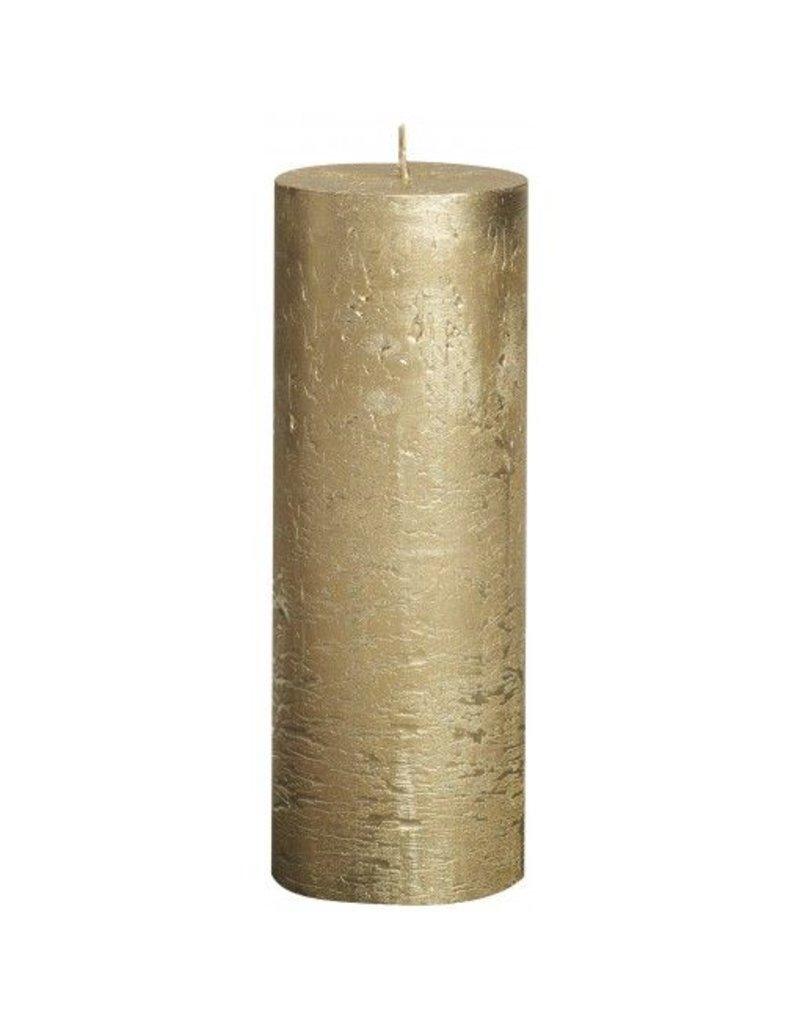 Bolsius Bolsius stompkaars rustiek metallic 190x70mm goud