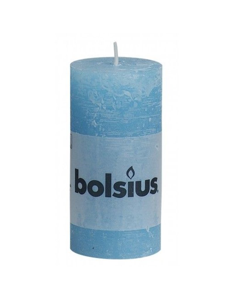 Bolsius Bolsius stompkaars rustiek 100x50mm aqua