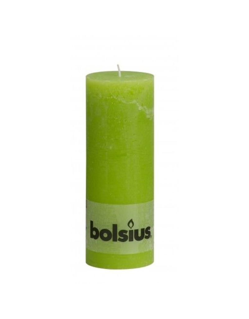 Bolsius Bolsius stompkaars rustiek 190x70mm lemon