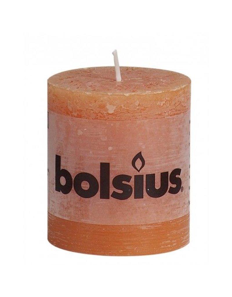 Bolsius Bolsius stompkaars rustiek 80x70mm oranje