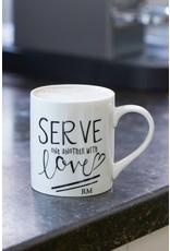 Riviera Maison Serve With Love Mug