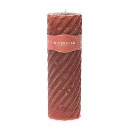 Riverdale Kaars Swirl 7.5X23Cm Roze