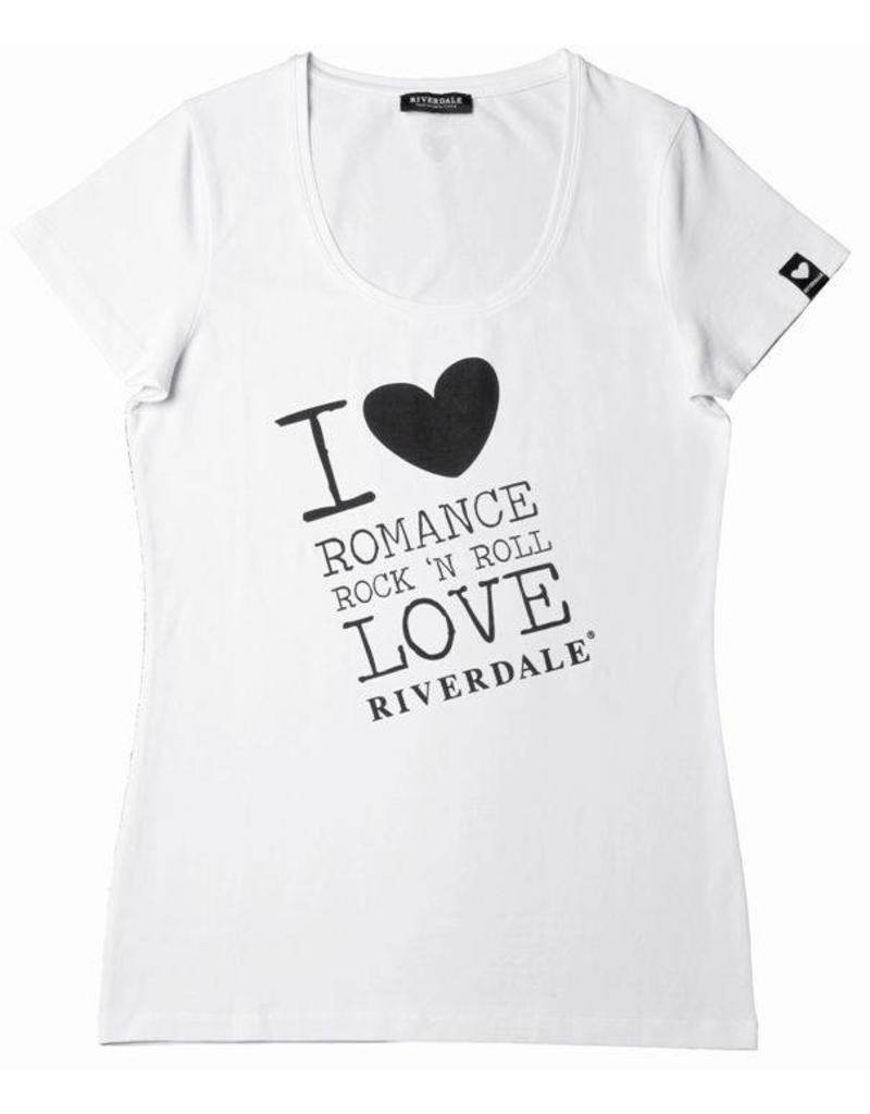 Riverdale Riverdale T-Shirt LOVE Wit - Maat Small