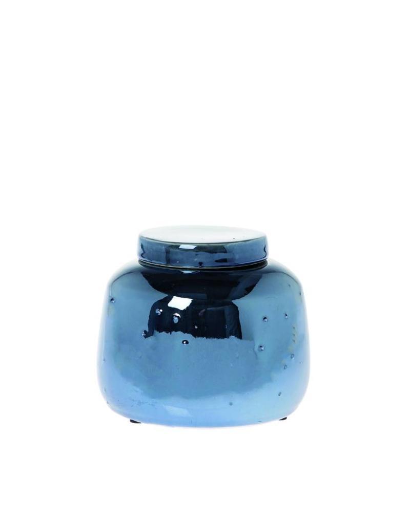 Riverdale Dekselpot Pearl blauw 15cm