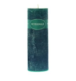 Riverdale Kaars Pillar emerald 7.5x23cm