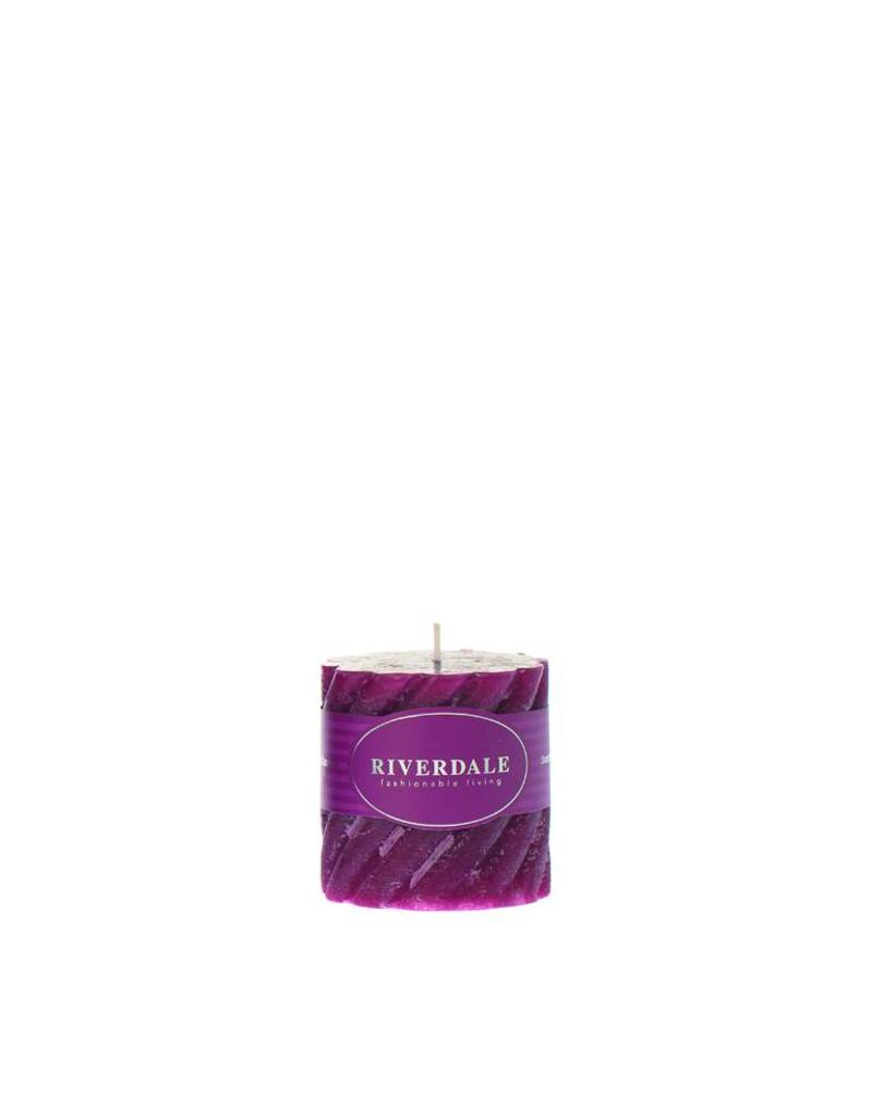Riverdale Kaars Swirl burgundy 7.5x7.5cm