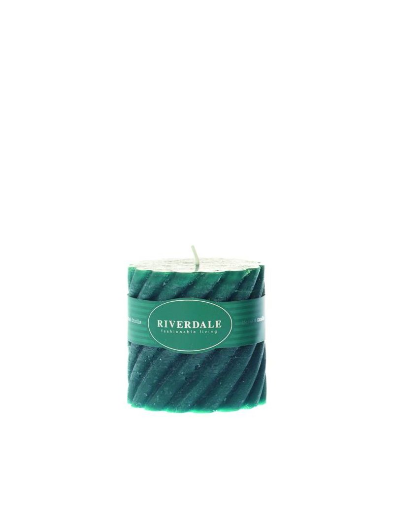 Riverdale Kaars Swirl emerald 10x10cm