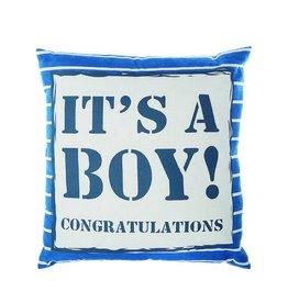 Riverdale Kussen Boy blauw 45x45cm AB