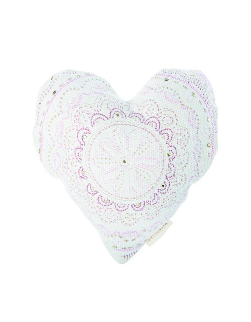 Riverdale Kussen Heart rose 50cm AB
