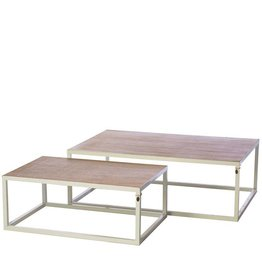 Riverdale Salontafel Byron white large 120cm