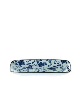 Riverdale Schaal Floral blue rechth. 22cm