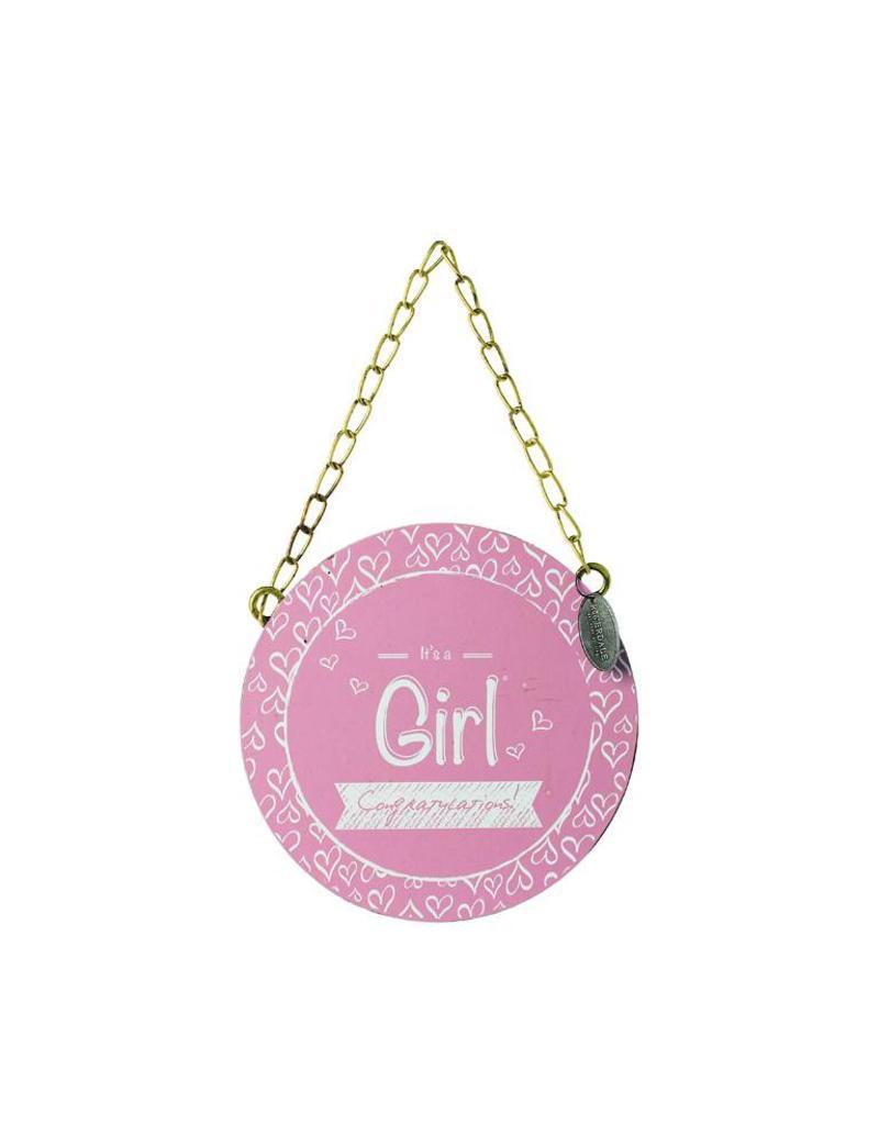 Riverdale Tekstbord Girl roze 15cm