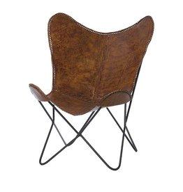 Riverdale Vlinderstoel Brooklyn brown 93cm