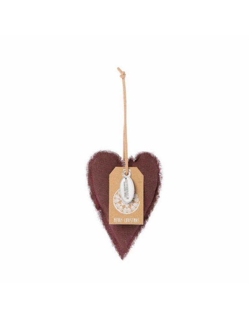 Riverdale Hanger Heart burgundy 12cm