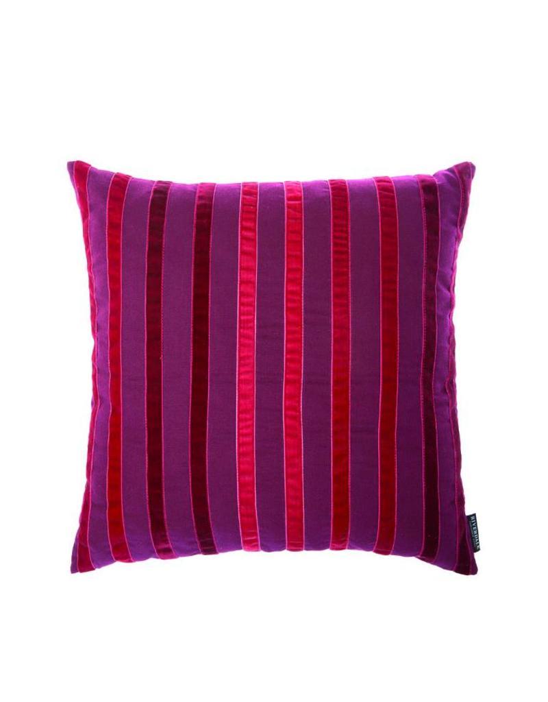 Riverdale Kussen Stripes burgundy 45x45cm