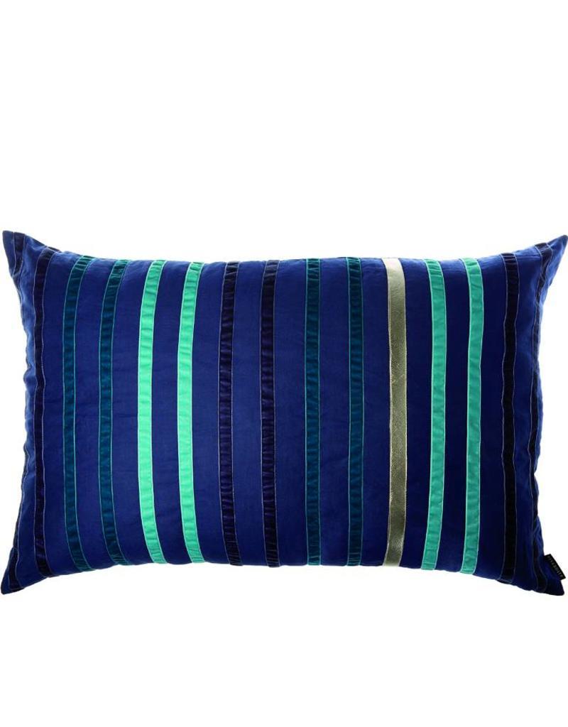 Riverdale Kussen Stripes d.blauw 50x70cm