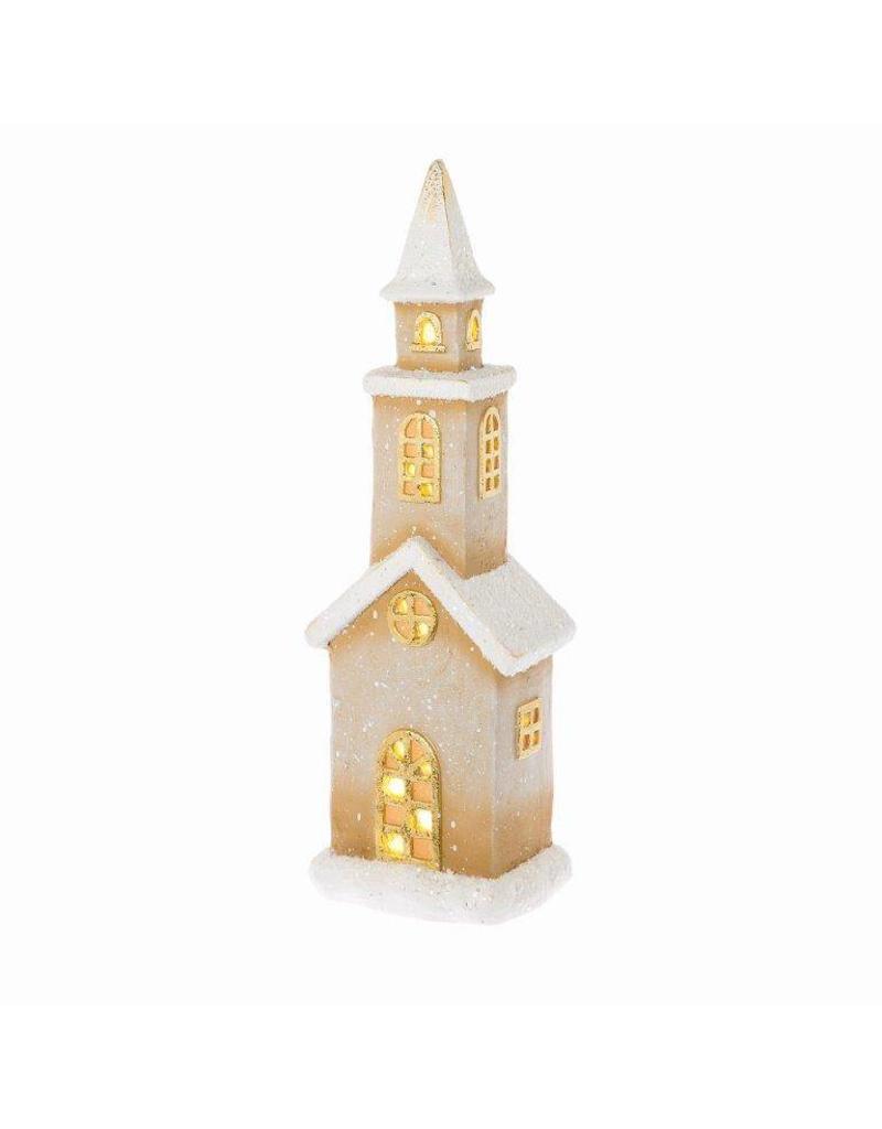Riverdale Led-licht Church bruin 53cm