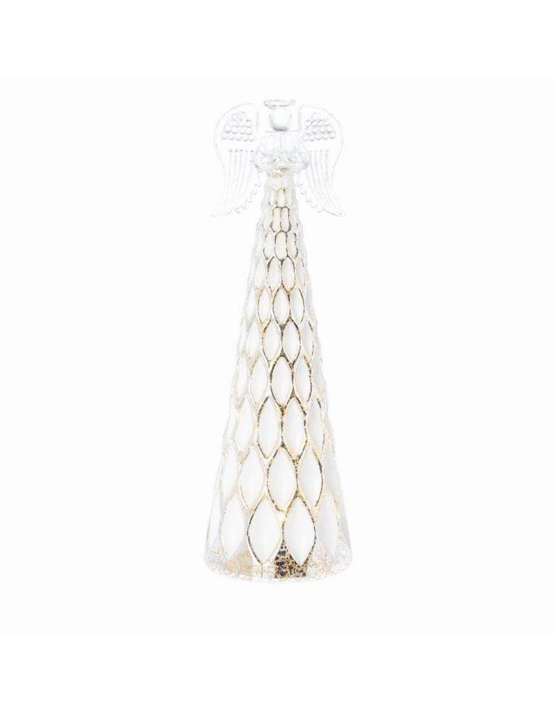 Riverdale Led-lichtje Angel wit/zilver 28cm