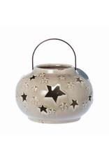 Riverdale Windlicht Stars taupe 24cm AB