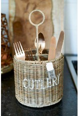 Riviera Maison Rustic Rattan Cutlery Basket Round