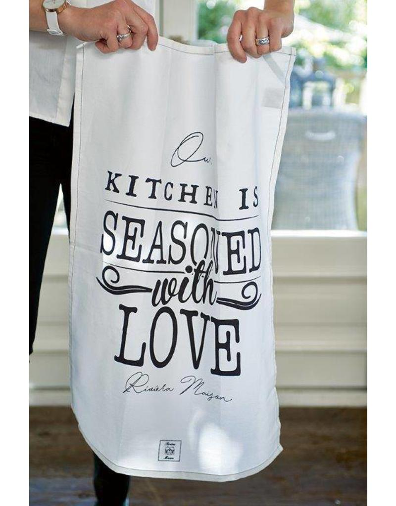 Riviera Maison Seasoned With Love Tea Towel