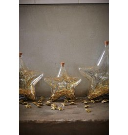 Riviera Maison Big Star Decoration Bottle gold S