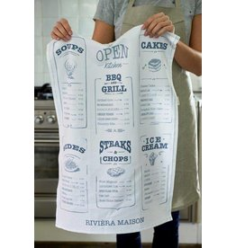 Riviera Maison Tea Towel Kitchen Menu
