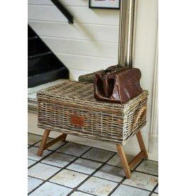 Riviera Maison Rustic Rattan Storage Basket Tray