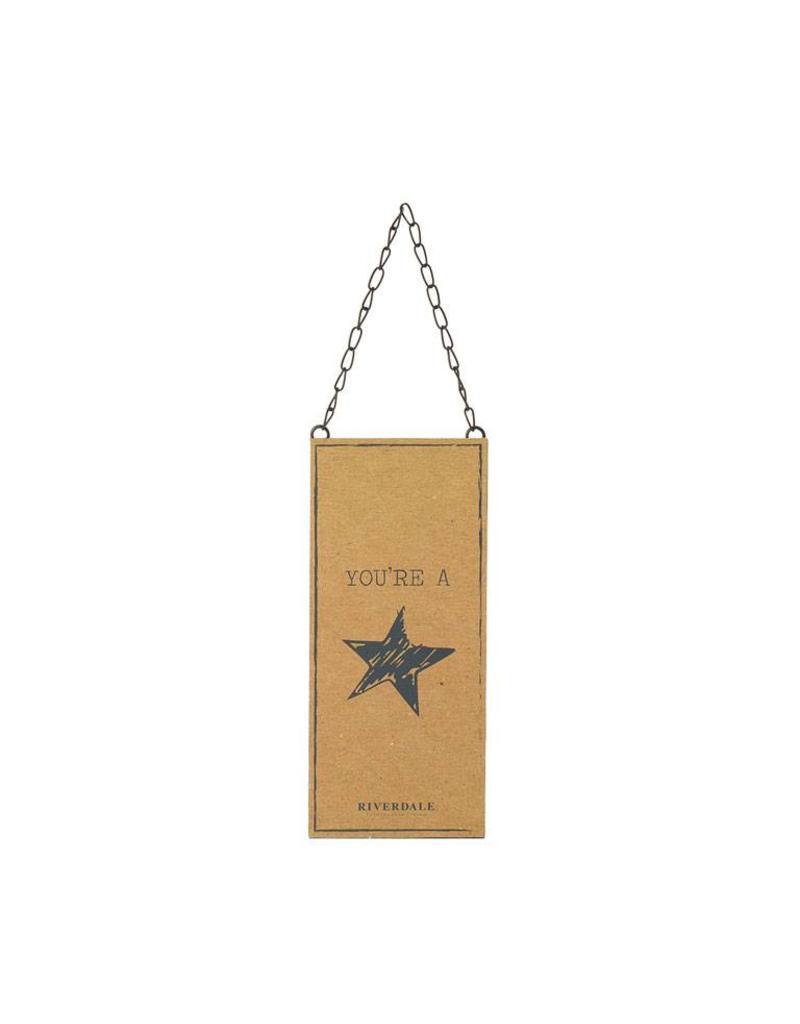 Riverdale Tekstbord Star brown 25cm