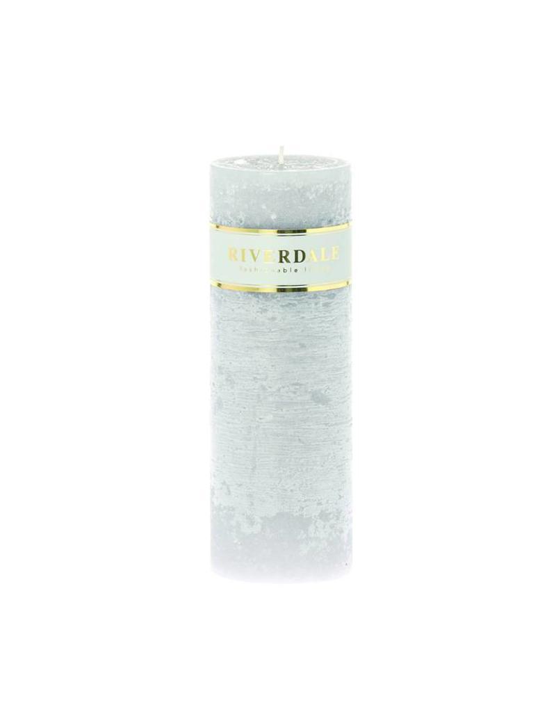 Riverdale Kaars Pillar grijs 7x20cm