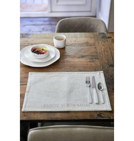 Riviera Maison Enjoy Your Meal Placemat flax